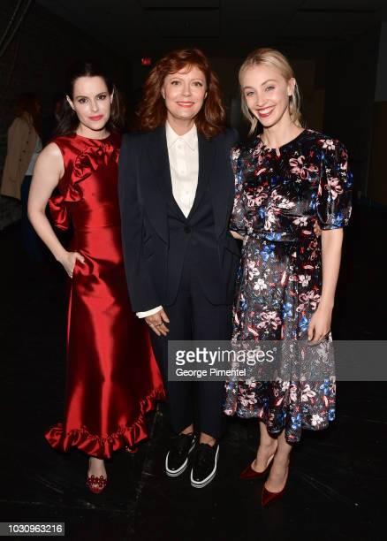 Emily Hampshire Susan Sarandon and Sarah Gadon attend the The Death And Life Of John F Donovan premiere during 2018 Toronto International Film...