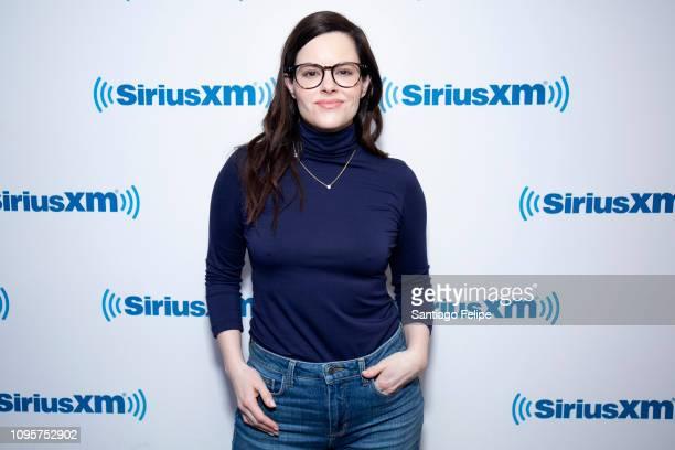 Emily Hampshire visits SiriusXM Studios on January 17 2019 in New York City