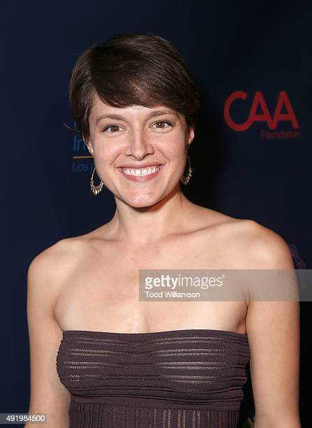 Emily Hardy attends CAA's Young Hollywood Party Benefiting Communities In Schools Of Los Angeles at Greystone Manor Supperclub on October 8 2015 in...