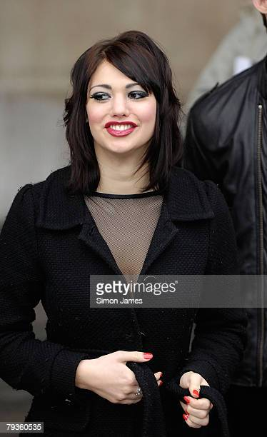 Emily Hawgood from the musical Chicago takes part in a photo call for Sainsbury's Sport Relief at Actors Church at Covent Garden January 29 2008 in...
