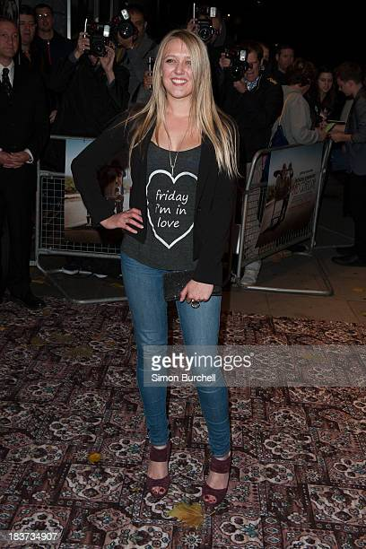 Emily Head attends the gala screening of 'Jackass Presents Bad Grandpa' at Odeon Covent Garden on October 9 2013 in London England