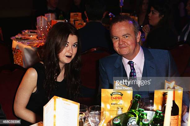 Emily Helen Hislop and Ian Hislop during the Jameson Empire Awards 2015 at the Grosvenor House Hotel on March 29 2015 in London England