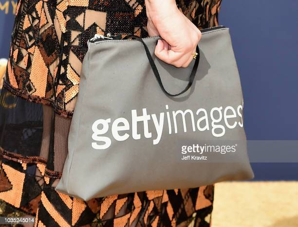 Emily Heller fashion detail attends the 70th Emmy Awards at Microsoft Theater on September 17 2018 in Los Angeles California