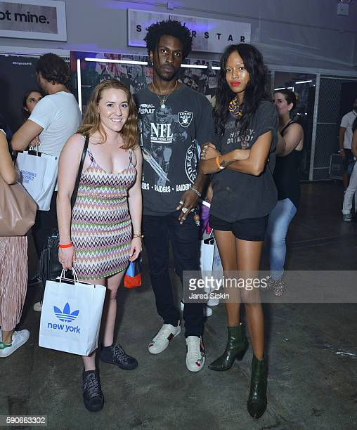 Emily Hillgren St John and Adesuwa Aighewi attend a Private Concert Featuring Joey Bada$$ to Celebrate the Grand Opening of the Adidas Originals Soho...