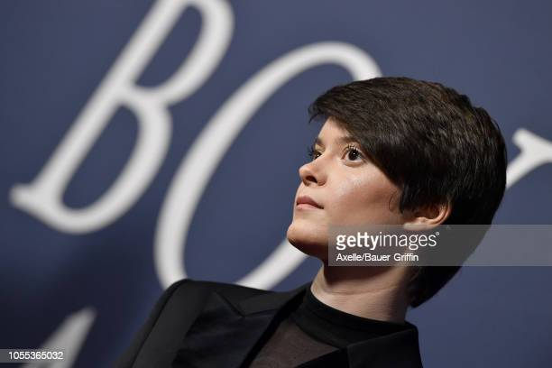 Emily Hinkler attends the premiere of Focus Features' 'Boy Erased' at Directors Guild of America on October 29, 2018 in Los Angeles, California.