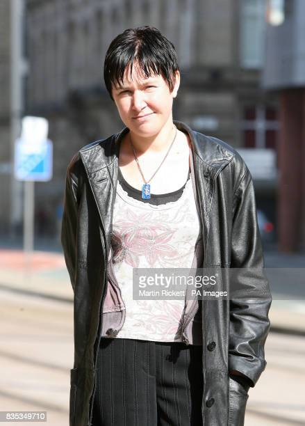 Emily Horne outside Minshull Street Crown Court in Manchester where she is charged with bigamy.