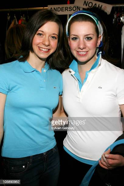 Emily Hughes and Sarah Hughes during Olympus Fashion Week Fall 2006 Lacoste Backstage at Bryant Park in New York City New York United States