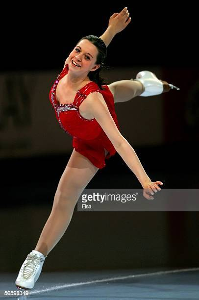 Emily Hughes performs during the 2006 State Farm U.S. Figure Championships Exhibition at the Savvis Center on January 15, 2006 in St. Louis,...
