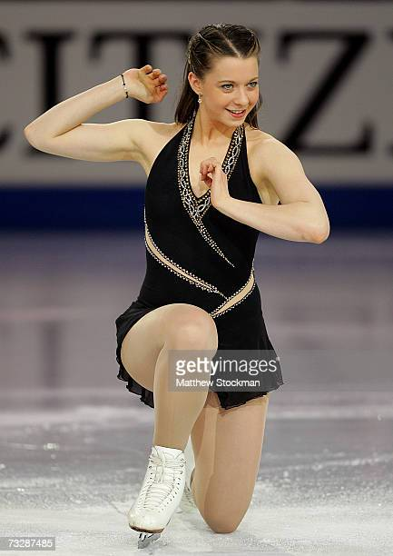 Emily Hughes performs in an exhibition following the ISU Four Continents Figure Skating Championships February 10 2007 in Colorado Springs Colorado