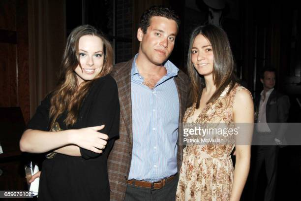 Emily Jackson Alex Fleiss and Chanel Korby attend APRIVATECLUBCOM Hosts ASSOULINE Book Launch at Hudson Hotel Library on March 24 2009 in New York...