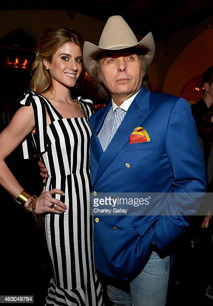 Emily Joyce and singer/actor Dwight Yoakam attend the Warner Music Group annual Grammy celebration at Chateau Marmont on February 8 2015 in Los...