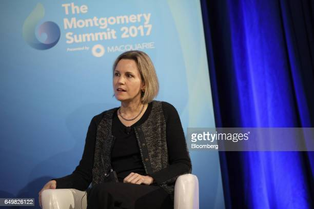 Emily Keeton cohead of mergers and acquisitions of IAC/InterActiveCorp speaks during the Montgomery Summit in Santa Monica California US on Wednesday...