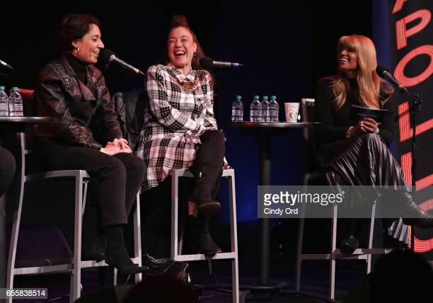 Emily King Kendra Foster and Tracey J Jordan speak during the GRAMMY Pro Songwriters Summit Women Making Music at The Apollo Theater on March 20 2017...