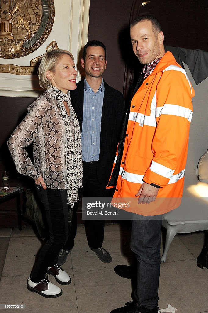 Emily King, Matthew Slotover and Wolfgang Tillmans attend the launch of House of Voltaire, the new pop-up shop from acclaimed London art space Studio Voltaire, at Sketch on November 20, 2012 in London, England.