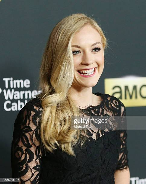 Emily Kinney arrives at the Los Angeles premiere of AMC's The Walking Dead 4th season held at Universal CityWalk on October 3 2013 in Universal City...