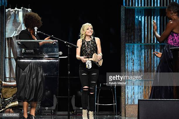 """Emily Kinney attends AMC's """"The Walking Dead"""" season 6 fan premiere event at Madison Square Garden on October 9, 2015 in New York City."""