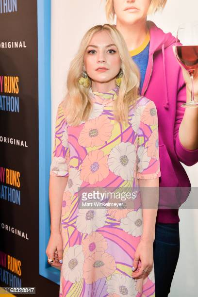 Emily Kinney attends the premiere of Amazon Studios' Brittany Runs A Marathon at Regal LA Live on August 15 2019 in Los Angeles California