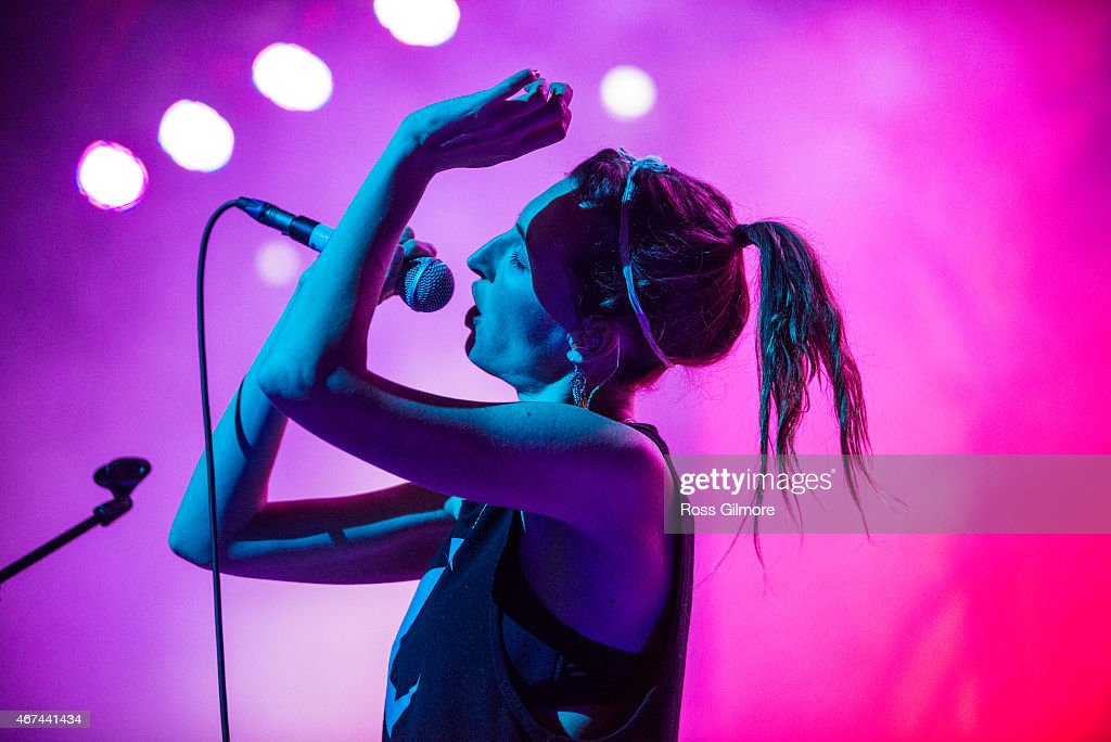 Emily Kokal of American band Warpaint performs on stage at O2 ABC Glasgow on March 24, 2015 in Glasgow, United Kingdom.