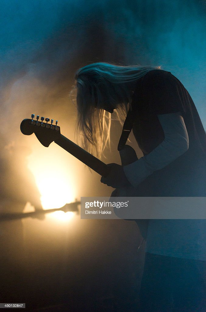 Emily Kokal of Warpaint performs on stage at Crossing Border Festival on November 16, 2013 in The Hague, Netherlands.