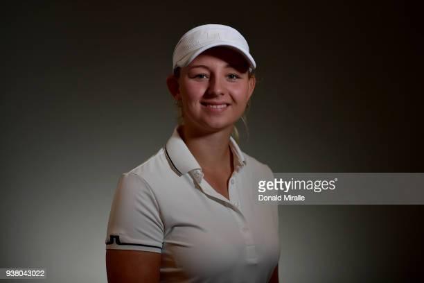 Emily Kristine Pedersen of Denmark poses for a portrait during the LPGA KIA CLASSIC at the Park Hyatt Aviara on March 21 2018 in Carlsbad California