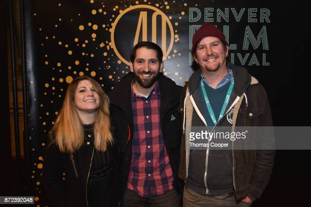 Emily Levy director Eric Levy and Eddey Levy arrive for a screening of 'Mailman' at the 40th annual Denver Film Festival on November 9 2017 in Denver...