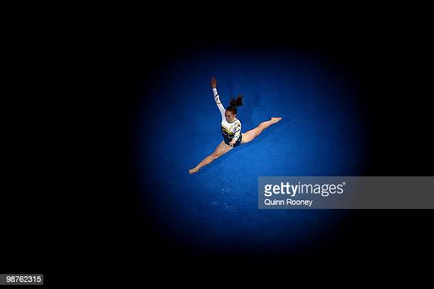 Emily Little of Australia competes on the Floor during day two of the 2010 Pacific Rim Championships at Hisense Arena on April 30 2010 in Melbourne...