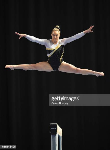 Emily Little of Western Australia competes on the Beam during the Australian Gymnastics Championships at Hisense Arena on May 26 2017 in Melbourne...