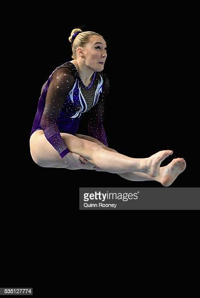 Emily Little of Western Australia competes on the floor during the 2016 Australian Gymnastics Championships at Hisense Arena on May 29 2016 in...
