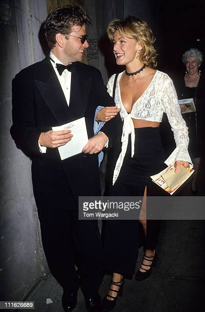 Emily Lloyd and Kevin Anderson during Emily Lloyd at First Night of Sunset Boulevard July 13 1993 at London in London Great Britain