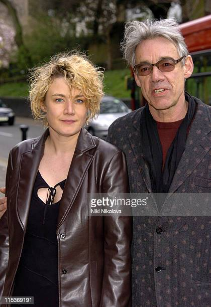 Emily Lloyd and Roger LloydPack during Tony Bennett Exhibition Private View April 5 2005 at Cattoo Gallery in London Great Britain