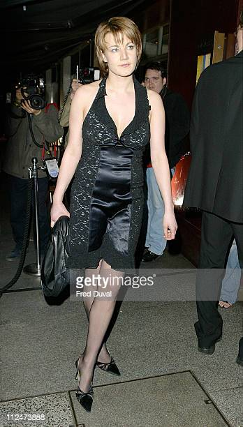 Emily Lloyd during Wheels and Doll Baby Fashion Rocks Party at Embassy Club in London England Great Britain