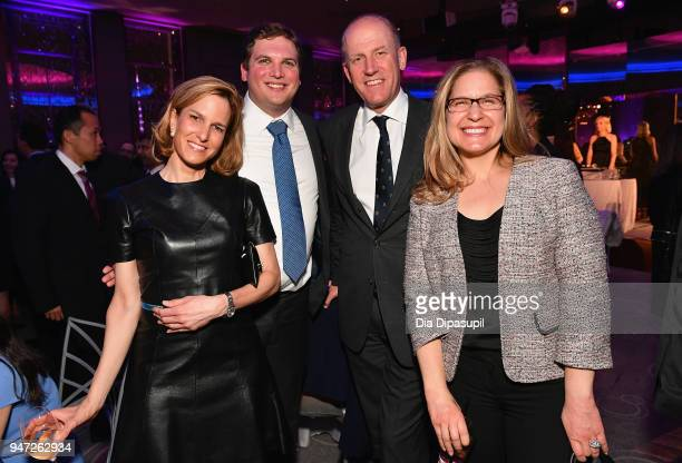 Emily Lonergan Brant Hutchinson Benjamin Schlevin Zoya Rains attend the Lincoln Center Alternative Investment Industry Gala on April 16 2018 at The...