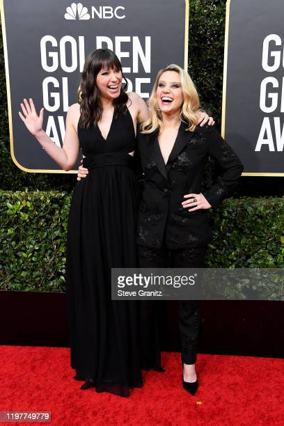 Emily Lynne and Kate McKinnon attend the 77th Annual Golden Globe Awards at The Beverly Hilton Hotel on January 05 2020 in Beverly Hills California
