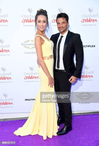 Emily MacDonagh and Peter Andre attend the Caudwell Children Butterfly Ball at Grosvenor House on May 25 2017 in London England