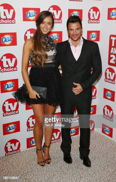 Emily MacDonagh and Peter Andre attend the TV Choice Awards 2013 at The Dorchester on September 9 2013 in London England