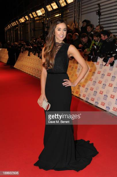 Emily MacDonagh attends the the National Television Awards at 02 Arena on January 23 2013 in London England