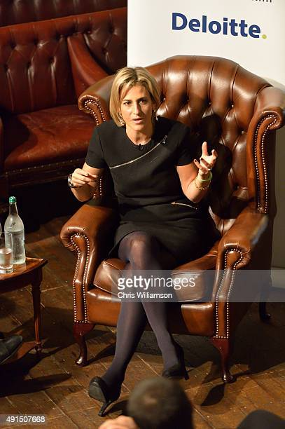 Emily Maitlis addresses students at the Cambridge Union Society on October 5 2015 in Cambridge England