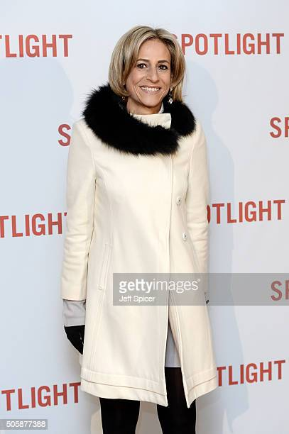 Emily Maitlis arrives for the UK Premiere of Spotlight at The Washington Mayfair on January 20 2016 in London England