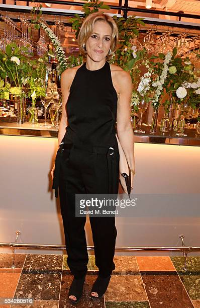 Emily Maitlis attends the London Evening Standard Londoner's Diary 100th Birthday Party in partnership with Harvey Nichols at Harvey Nichols on May...