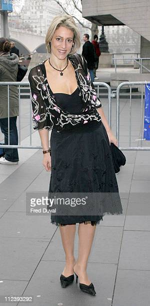 Emily Maitlis during 2004 Evening Standard Theatre Awards at National Theatre in London Great Britain
