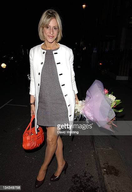 Emily Maitlis during Celebrity Sightings at Garrards November 30 2006 at Garrards in London Great Britain