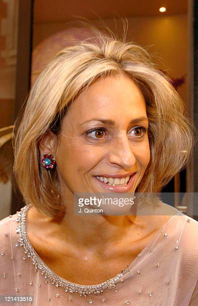 Emily Maitlis during LaurentPerrier 'Chilled Pink' Party Arrivals at Quaglino's in London Great Britain