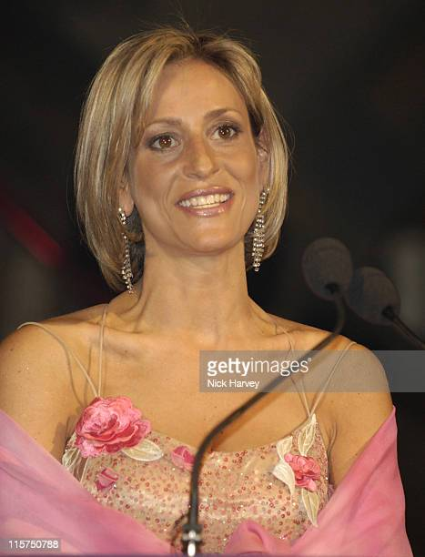 Emily Maitlis during The Blush Ball in Aid of Breast Cancer Haven Sponsored by Henri Zimand Inside at Natural History Museum in London Great Britain