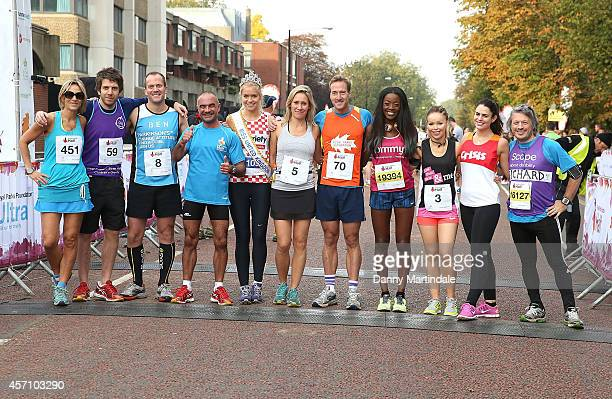 Emily Maitlis Miss United Kingdom Kirsty Rose Sophie Raworth Ben Fogle Andy Goldstein Katie Piper and Richard Herring attend a photocall ahead of the...