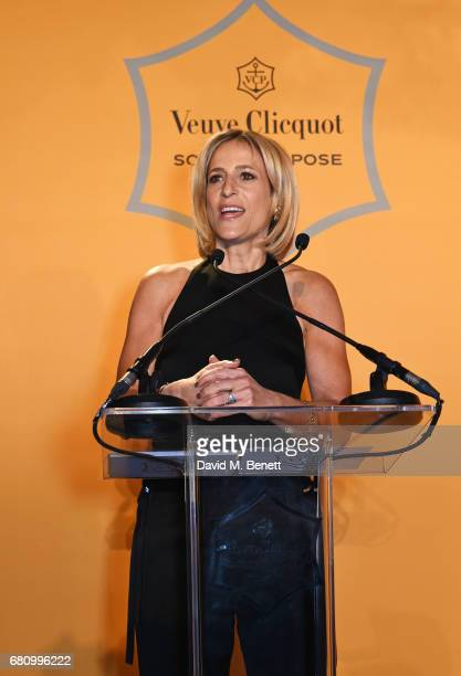 Emily Maitlis speaks at the Veuve Clicquot Business Woman Awards at Claridge's Hotel on May 9 2017 in London England
