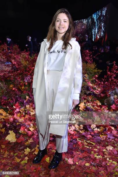 Emily Marant attends the Moncler Gamme Rouge show as part of the Paris Fashion Week Womenswear Fall/Winter 2017/2018 on March 7 2017 in Paris France
