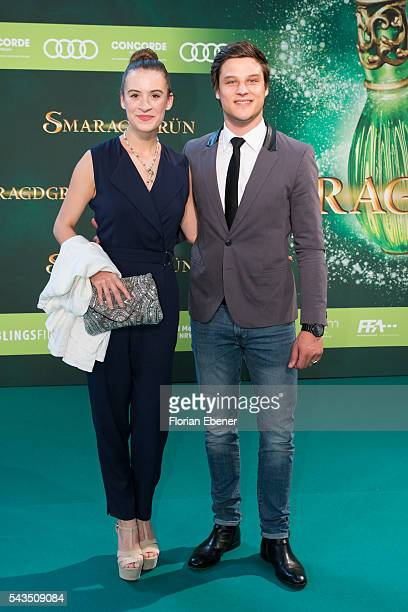 Emily Marie Seidel and Daniel Axt attend the 'Smaragdgruen' German Premiere on June 28 2016 in Cologne Germany