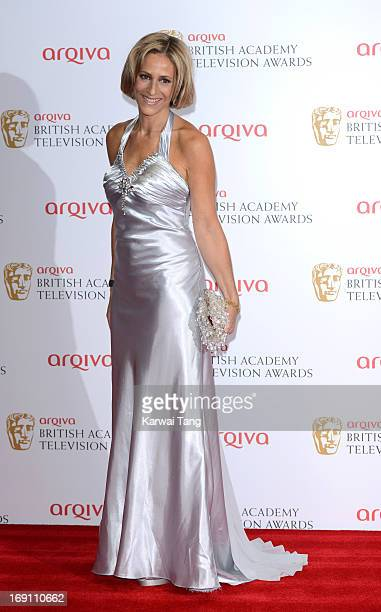 Emily Mattis poses in the press room at the Arqiva British Academy Television Awards 2013 at the Royal Festival Hall on May 12 2013 in London England
