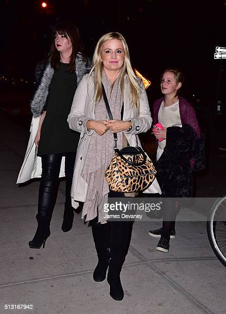 Emily Maynard and daughter Ricki Hendrick arrive to Barbuto on February 29 2016 in New York City