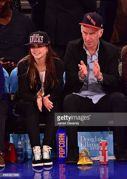 Emily McEnroe and John McEnroe attend New York Knicks vs Milwaukee Bucks game at Madison Square Garden on November 6 2015 in New York City